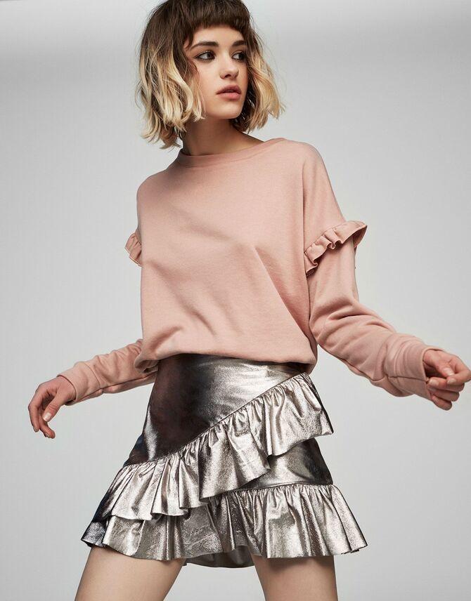 Модные мини-юбки с оборками 2021-2022 13