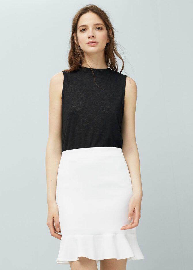 Модные мини-юбки с оборками 2020-2021 24
