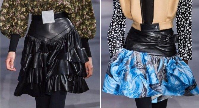 Модные мини-юбки с оборками 2021-2022 4