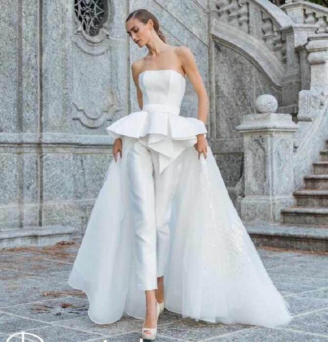 Свадебные костюмы для невест: стильные идеи для особенного дня 55