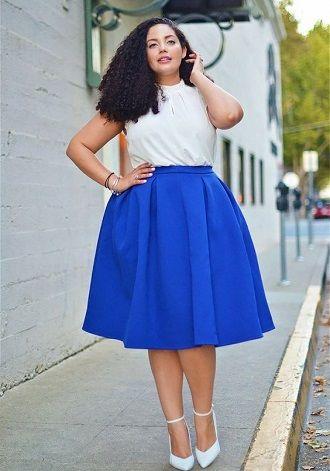 Без ограничений: модные летние юбки для полных женщин 2020 25
