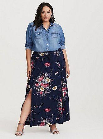 Без ограничений: модные летние юбки для полных женщин 2020 35