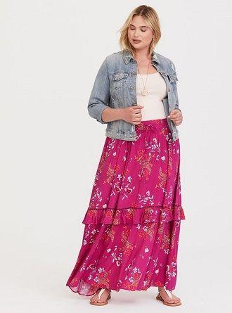 Без ограничений: модные летние юбки для полных женщин 2020 36