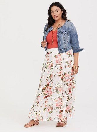 Без ограничений: модные летние юбки для полных женщин 2020 38