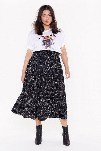 Без ограничений: модные летние юбки для полных женщин 2020 4