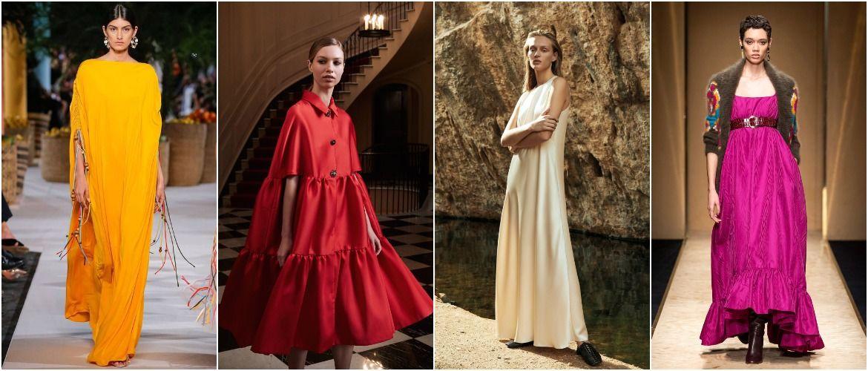 Широкие и роскошные: самые модные расклешенные платья 2021-2022 года