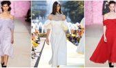 Летняя романтика: выбираем платье 2021-2022 года с открытыми плечами