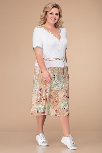 Без ограничений: модные летние юбки для полных женщин 2020 55