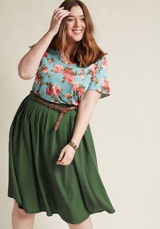 Без ограничений: модные летние юбки для полных женщин 2020 7