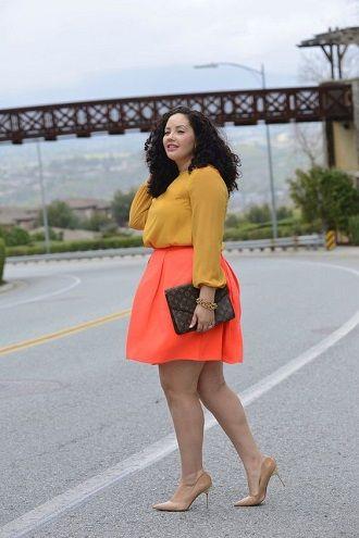 Без ограничений: модные летние юбки для полных женщин 2020 50