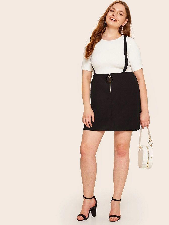 Без ограничений: модные летние юбки для полных женщин 2020 51