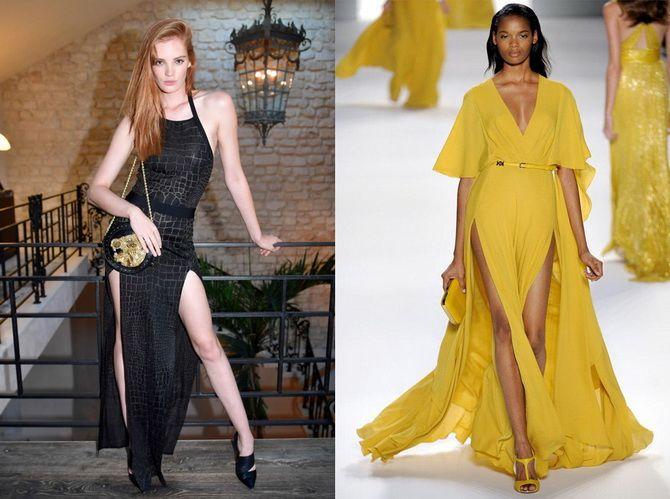 Модные платья с разрезом: лучшие фасоны и силуэты 2020-2021 года 18