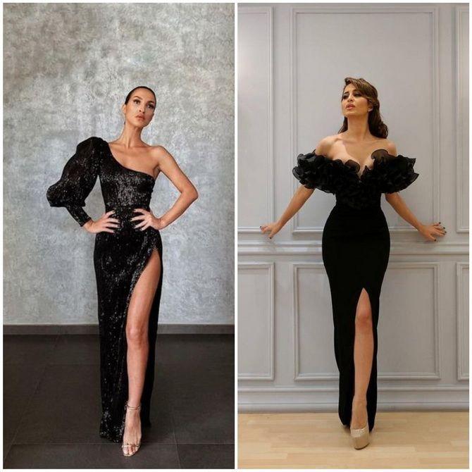 Модные платья с разрезом: лучшие фасоны и силуэты 2020-2021 года 19