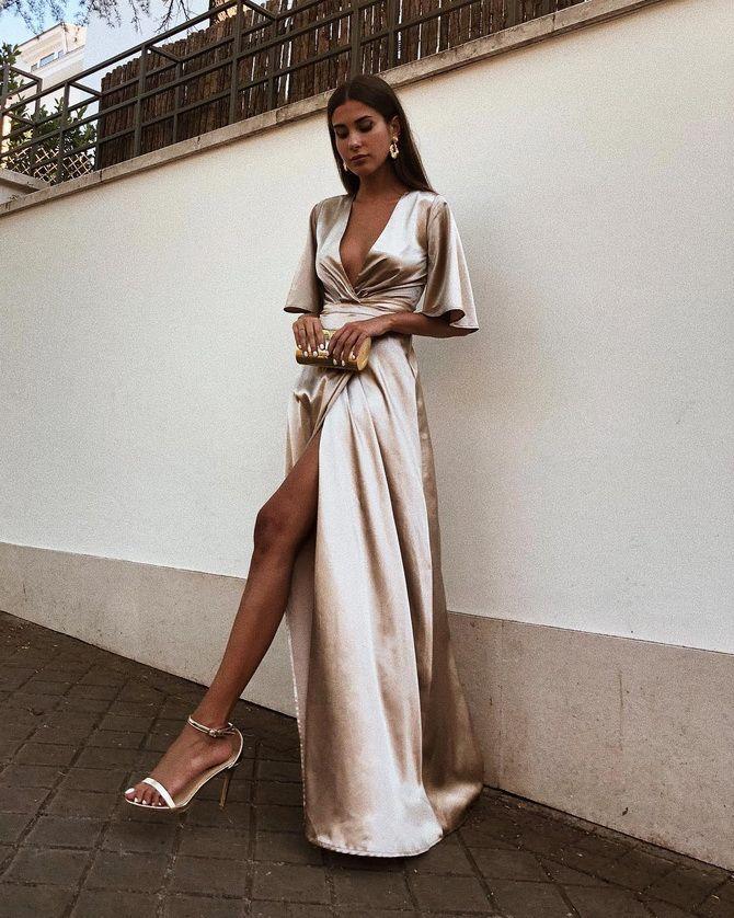 Модные платья с разрезом: лучшие фасоны и силуэты 2020-2021 года 21