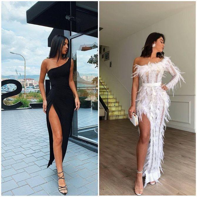 Модные платья с разрезом: лучшие фасоны и силуэты 2020-2021 года 33