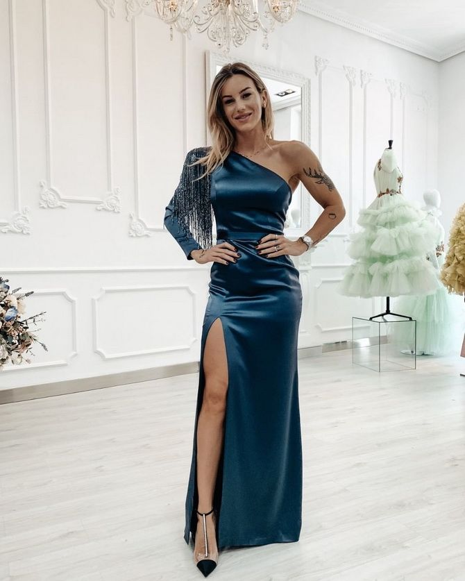 Модные платья с разрезом: лучшие фасоны и силуэты 2020-2021 года 35