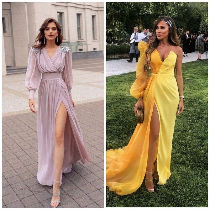 Модные платья с разрезом: лучшие фасоны и силуэты 2020-2021 года 9
