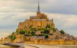 остров Mont Saint-Michel