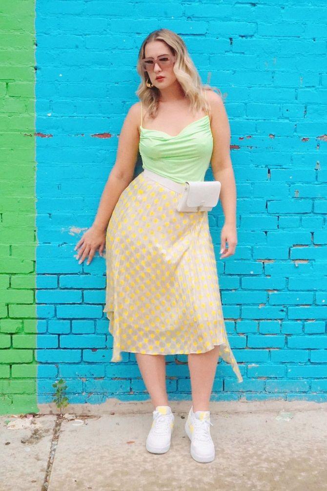 Без ограничений: модные летние юбки для полных женщин 2020 5
