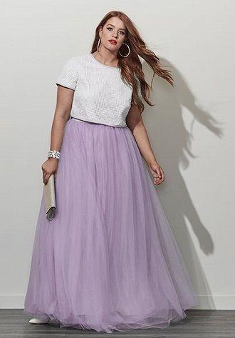 Без ограничений: модные летние юбки для полных женщин 2020 11