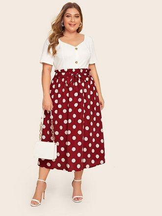 Без ограничений: модные летние юбки для полных женщин 2020 33