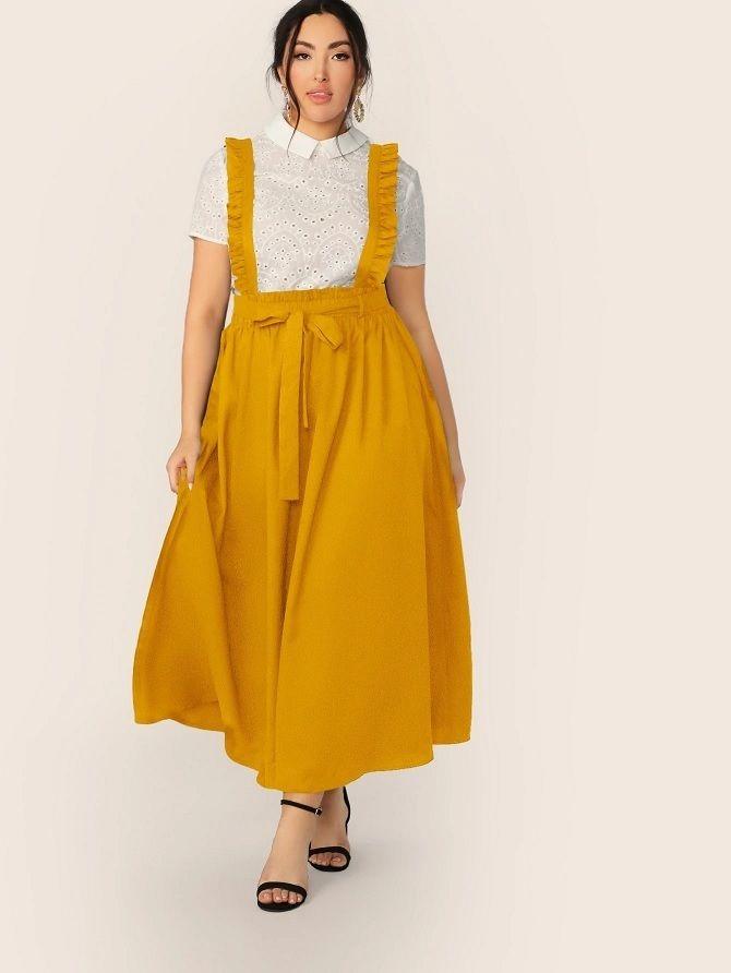 Без ограничений: модные летние юбки для полных женщин 2020 34