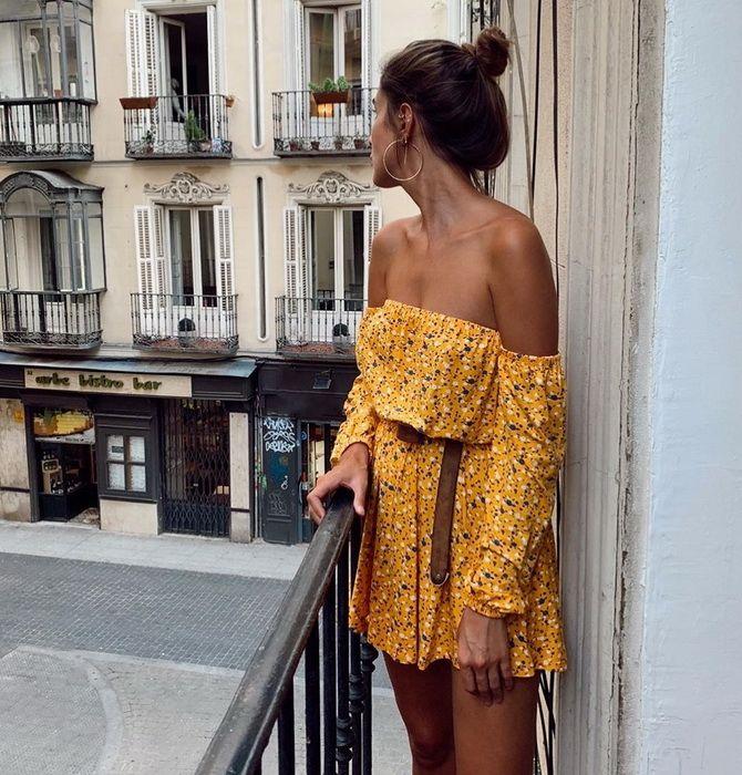 Літня романтика: обираємо сукню 2021-2022 року з відкритими плечима 10