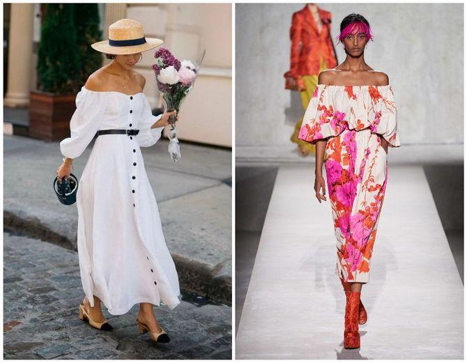 Літня романтика: обираємо сукню 2021-2022 року з відкритими плечима 22