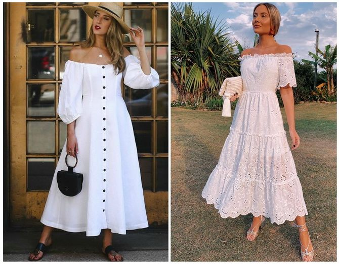 Літня романтика: обираємо сукню 2021-2022 року з відкритими плечима 6