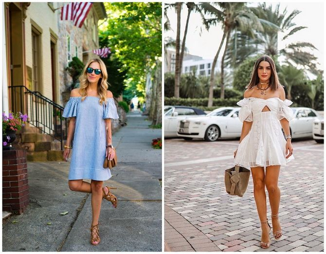 Літня романтика: обираємо сукню 2021-2022 року з відкритими плечима 9