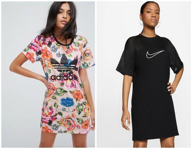 Повседневный наряд: лучшие платья-футболки 2020-2021 года 18