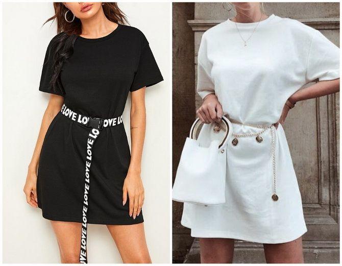 Повседневный наряд: лучшие платья-футболки 2020-2021 года 22