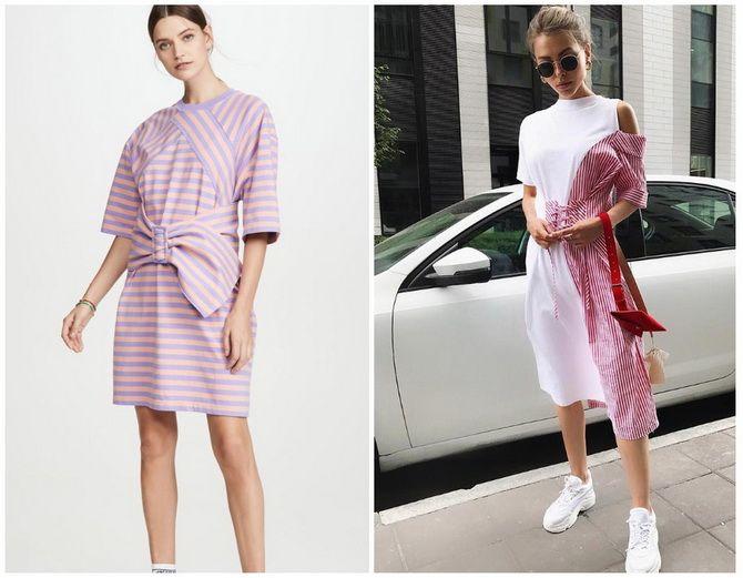 Повседневный наряд: лучшие платья-футболки 2020-2021 года 24