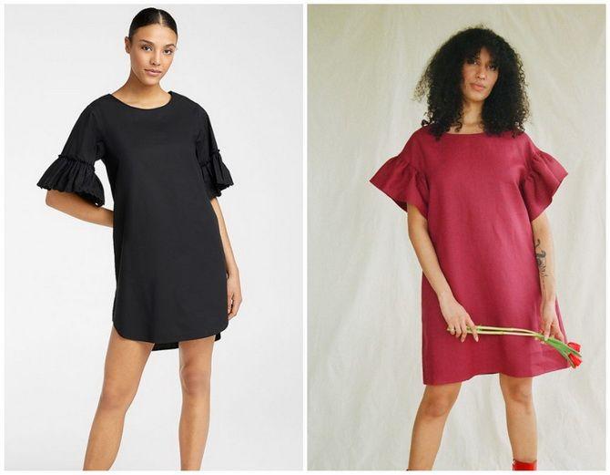 Повседневный наряд: лучшие платья-футболки 2020-2021 года 26