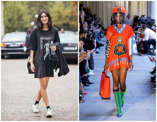 Повседневный наряд: лучшие платья-футболки 2020-2021 года 33