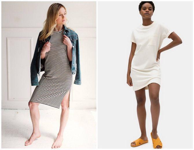 Повседневный наряд: лучшие платья-футболки 2020-2021 года 40