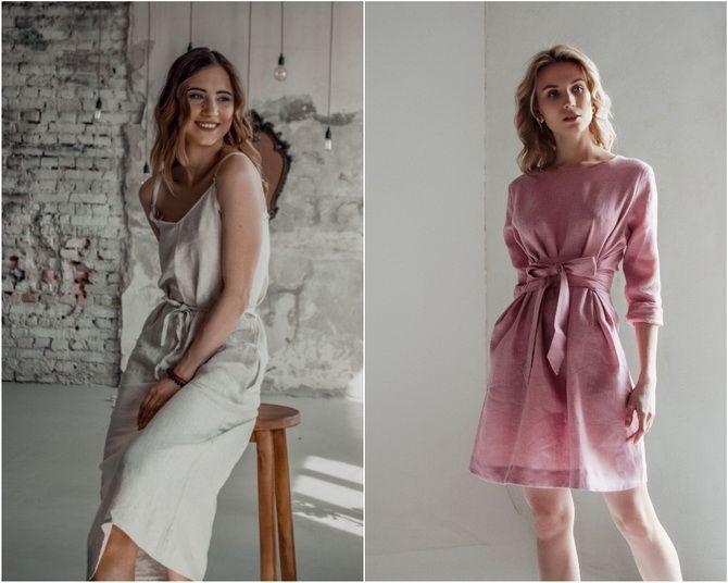 Льняное платье: ТОП-10 моделей 2020-2021 года 20