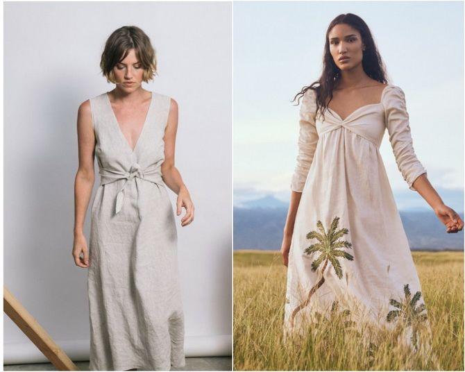 Льняное платье: ТОП-10 моделей 2020-2021 года 3