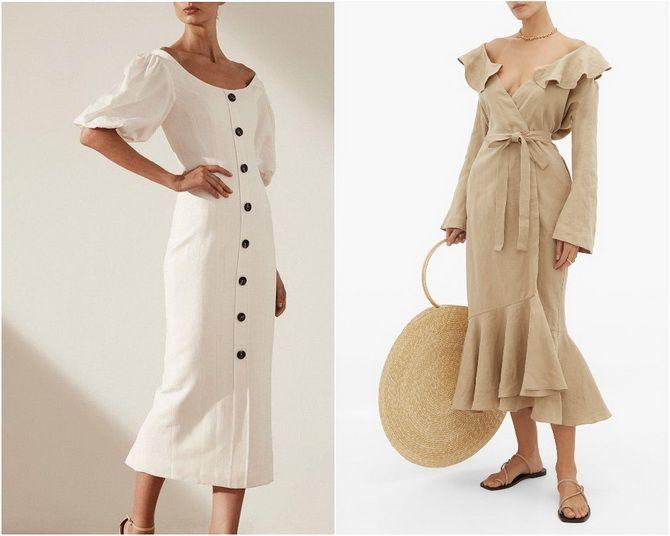 Льняное платье: ТОП-10 моделей 2020-2021 года 4
