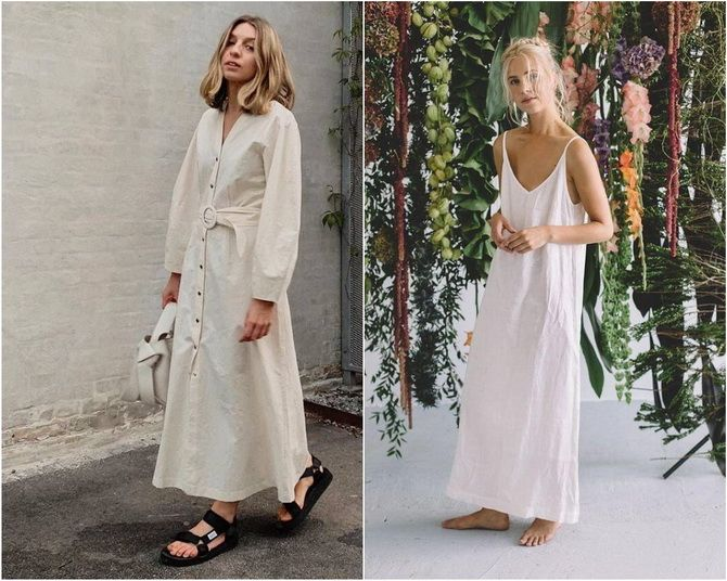 Льняное платье: ТОП-10 моделей 2020-2021 года 5