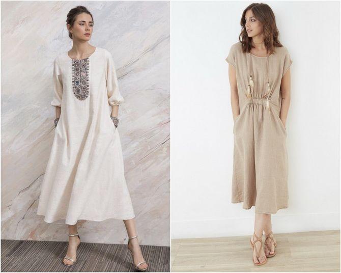 Льняное платье: ТОП-10 моделей 2020-2021 года 8