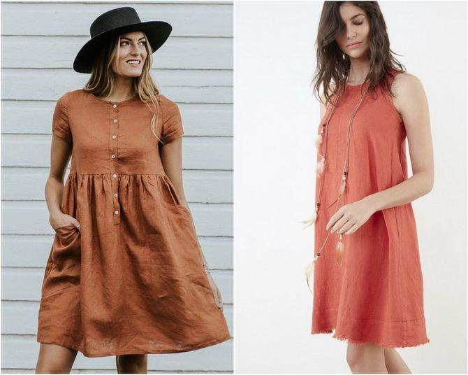 Льняное платье: ТОП-10 моделей 2020-2021 года 9