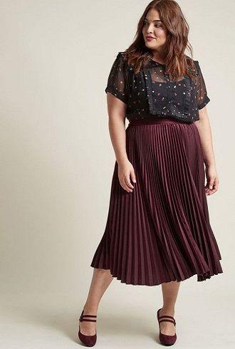 Без ограничений: модные летние юбки для полных женщин 2020 41