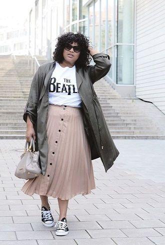 Без ограничений: модные летние юбки для полных женщин 2020 42