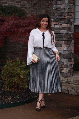 Без ограничений: модные летние юбки для полных женщин 2020 44
