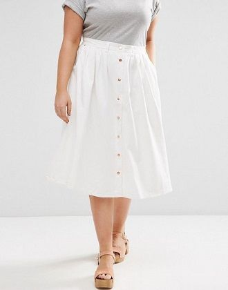 Без ограничений: модные летние юбки для полных женщин 2020 29