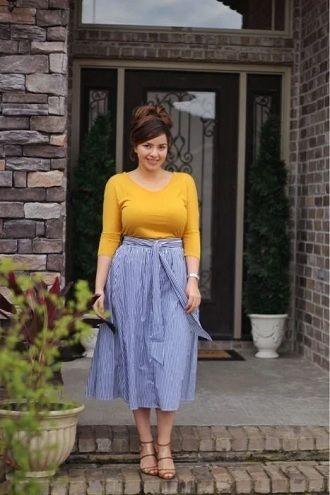 Без ограничений: модные летние юбки для полных женщин 2020 31