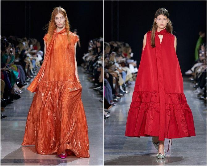 Широкие и роскошные: самые модные расклешенные платья 2021-2022 года 1