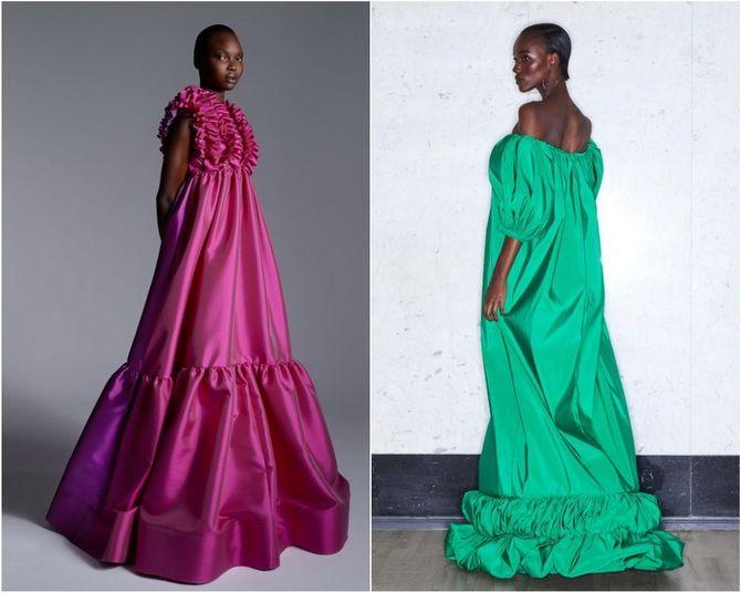 Широкие и роскошные: самые модные расклешенные платья 2021-2022 года 10