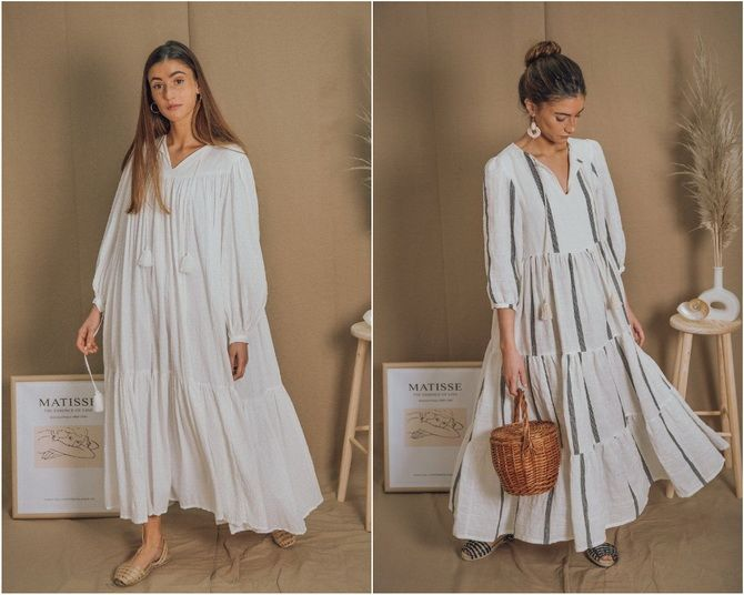 Широкие и роскошные: самые модные расклешенные платья 2021-2022 года 11